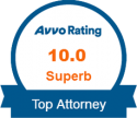 Avvo Rating 10.0 Top Attorney